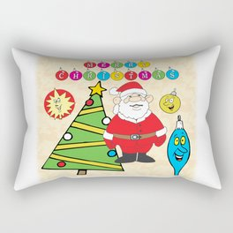 Santa & the Tree Rectangular Pillow
