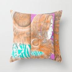 Nail Girl Throw Pillow