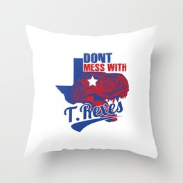 Don't Mess With T. Rexes Throw Pillow