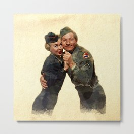 P&J ...Back in the Army (White Christmas) Metal Print