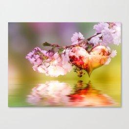 Frühlingsherz Canvas Print