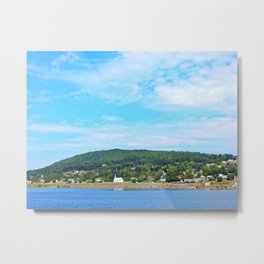 Little White Church on the River Metal Print