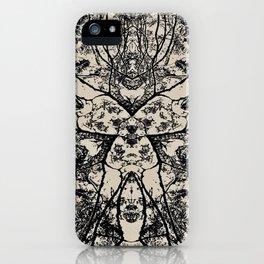 Black Flora No 1 iPhone Case
