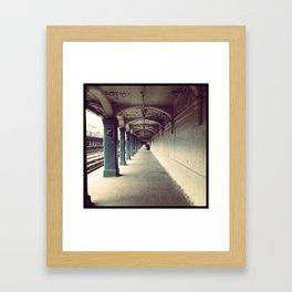 Avenue U Train Station in Brooklyn Framed Art Print