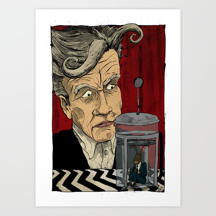 David Lynch Signature Cup Coffee (Rabbit Blend) Art Print