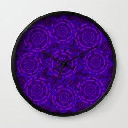 Celtic tones in purple Wall Clock