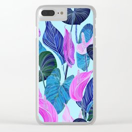 Lush Lily - cool brights Clear iPhone Case