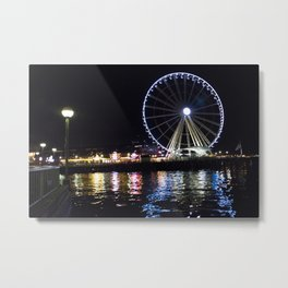 The Great Wheel At Night (b) Metal Print