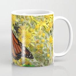 Monarch on Rubber Rabbitbrush Coffee Mug