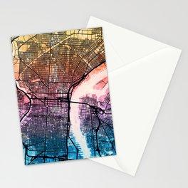 Philadelphia Pennsylvania Street Map Stationery Cards