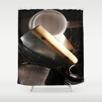 baking Shower Curtains featuring Baking by SEB Market BK