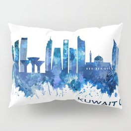 Kuwait City Kuwait Skyline Blue Pillow Sham