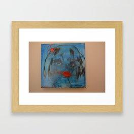 Miss Flighty Framed Art Print