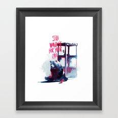 Waiting for you call Framed Art Print