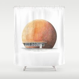 Montreal's Orange Julep Shower Curtain