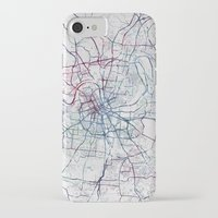 nashville iPhone & iPod Cases featuring Nashville by MapMapMaps.Watercolors
