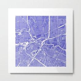 Houston City Map Art Metal Print