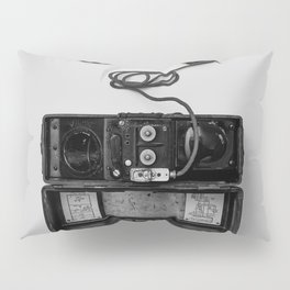 Antique Phone (Black and White) Pillow Sham