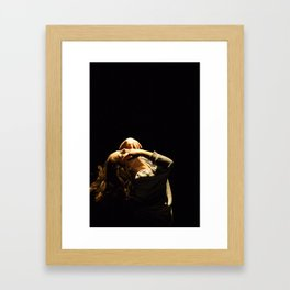 with eyes closed Framed Art Print