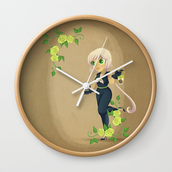 Retro Sailor Star Healer Wall Clock