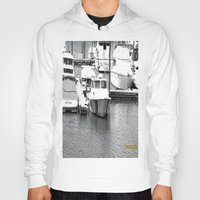 boats Hoodies featuring Boats BW by BeachStudio