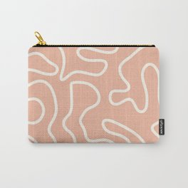 Squiggle Maze in White and Millennial Pink Carry-All Pouch