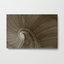 Sand stone spiral staircase 5 Metal Print