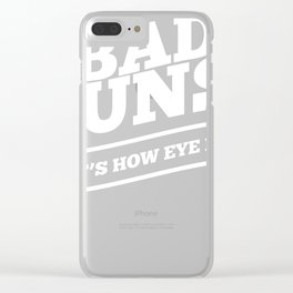 Bad Puns Thats How Eye Roll Funny Saying product Clear iPhone Case