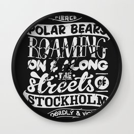 Facts About Sweden N°1 Wall Clock