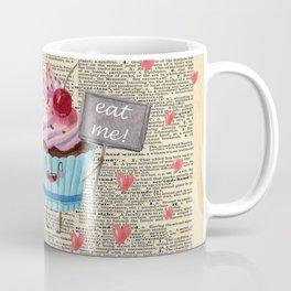 Eat Me - Alice In Wonderland - Vintage Dictionary Page Coffee Mug