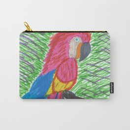 Pink Bird of Paradise Carry-All Pouch