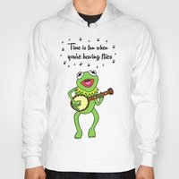 kermit Hoodies featuring Kermit having fun by BlackBlizzard