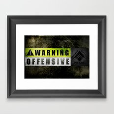 Lockout: Warning Offensive (MS-ONE) Framed Art Print