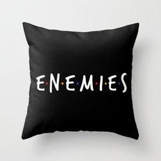 Friend/Enemies Throw Pillow