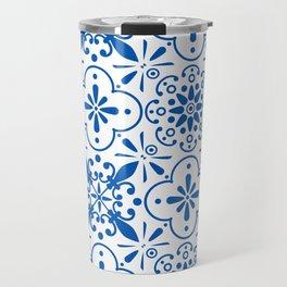 Azulejos Portugese tiles pattern Travel Mug