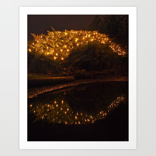 Yuletide reflection Art Print
