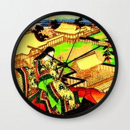 Kyoto Ukiyoe Landscape Wall Clock