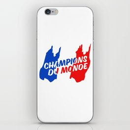 World Champions French Soccer Football iPhone Skin