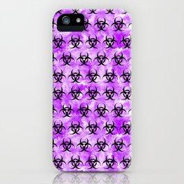 Purple Biohazard iPhone Case