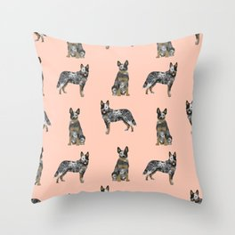 Australian Cattle Dog blue heeler dog breed gifts for cattle dog owners Throw Pillow