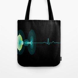 Dragon Stem Goblet - heartbeat Tote Bag