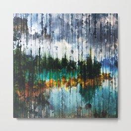 Abstract Mountain Lake Metal Print