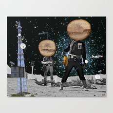 Final Shot in Space Collage Canvas Print