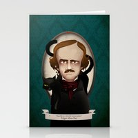edgar allan poe Stationery Cards featuring Edgar Allan Poe said... by Mrs Peggotty