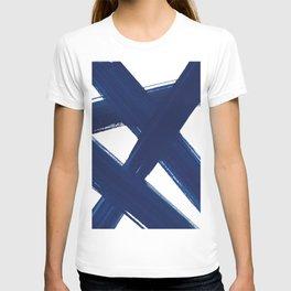 Indigo Abstract Brush Strokes | No. 3 T-shirt