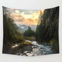 The Sandy River I - nature photography Wall Tapestry