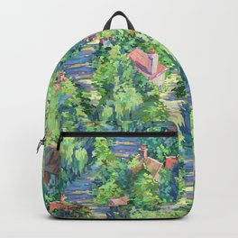 Charming French Village Pattern Backpack