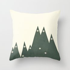 Moonlit Peaks Throw Pillow