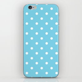 Girls just wanna have dots - teal white iPhone Skin