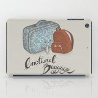 backpack iPad Cases featuring I hate goodbyes. by Lidija Paradinović Nagulov - Celandine